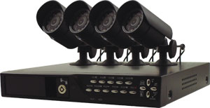 DVR Recording Kit with  4 Cameras