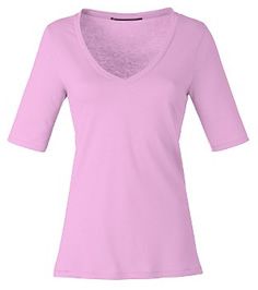 Half Sleeve V-Neck Top from John Lewis Basic Deluxe Range