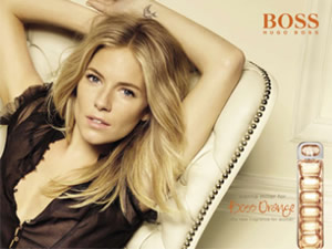 Sienna Miller Launches Boss Orange Women's Fragrance